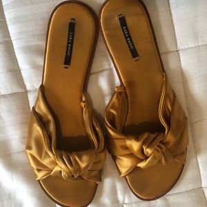 Zara satin bow slides